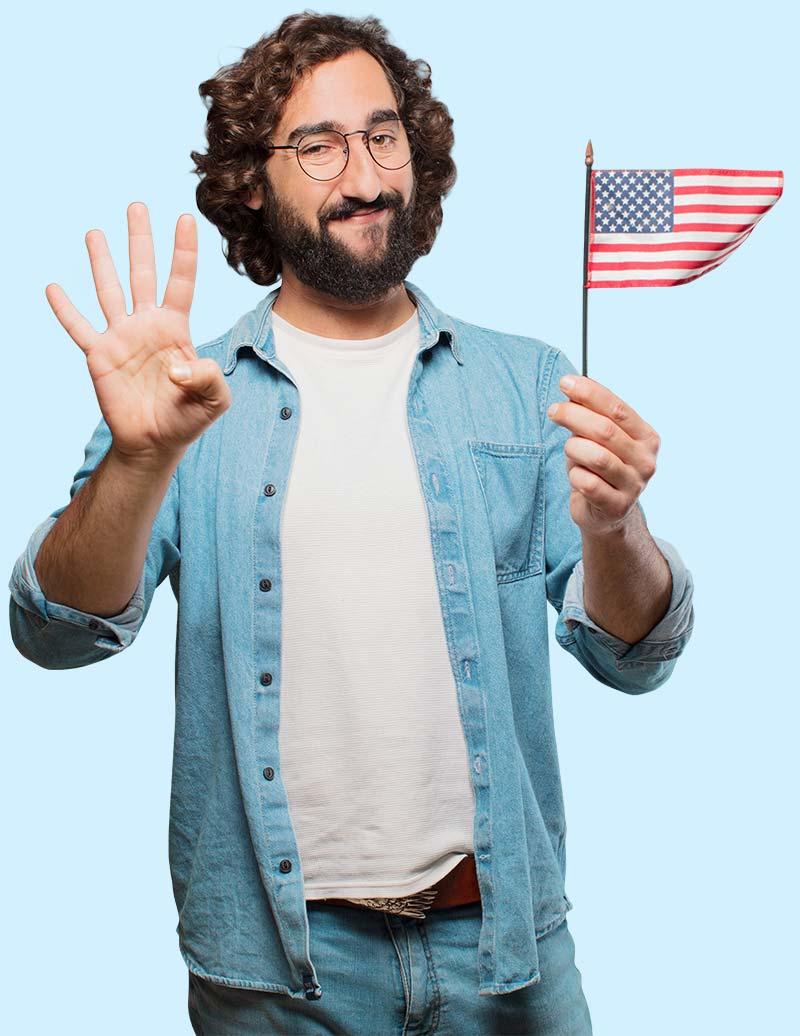 Victor USA flag